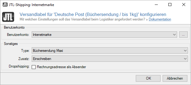 Jtl Shippinglabels Für Deutsche Post Internetmarke Jtl Guide