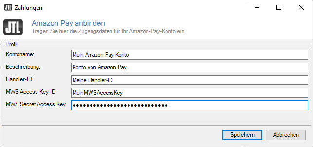Amazon Pay anbinden in JTL-Wawi