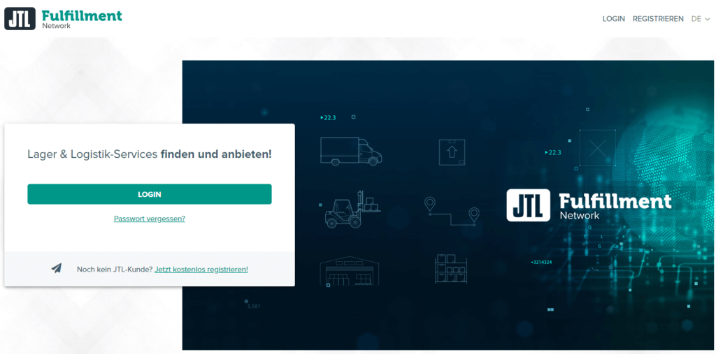Login ins JTL-Fulfillment Network